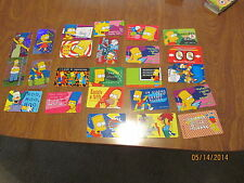 LOT CARDS COLLECTIBLES THE SIMPSON 99' FOX MIXED  24 CARDS MATT GROENING ITALY