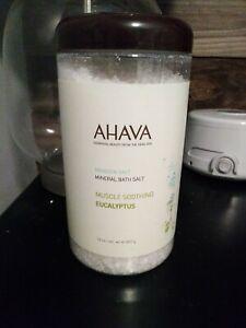 AHAVA DeadSea Salt Mineral Bath Salt - Muscle Soothing Eucalyptus - 32 oz