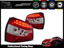FEUX ARRIERE ENSEMBLE LDAU01 AUDI A3 1996 1997 1998 1999 2000 RED WHITE LED