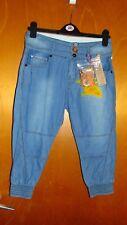 Vingina 'Yoshi Cham' 100%Cotton Cropped Cuffed Jeans 14y 164cm Blue BNWT