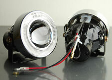 """3"""" ADD ON WHITE ANGEL EYES HALO PROJECTOR BUMPER DRIVING CLEAR FOG LIGHTS LAMPS"""