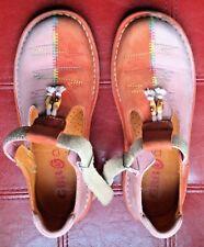 Chaussures GBB 34 Fille à Fermeture Scratch bicolores rose et orange propres