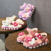 Toddler Kids Baby Girls Children Flower Leather Floral Princess Shoes Sandals