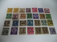 (227) OUTSTANDING COLLECTION OF VINTAGE AMERICAN USA STATES STAMPS X 28 N.Y.