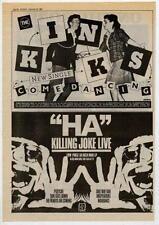 Kinks Killing Joke UK 45' adverts 1982