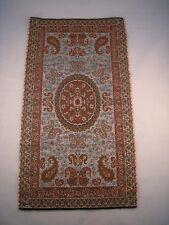 Persian Rug Style Miniature Paisley Art Silk Woven Termeh Tapestry Wall Hanging