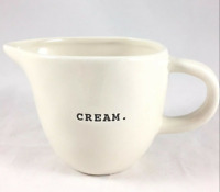 "RAE DUNN Creamer Magenta ""CREAM""  TYPEWRITER Farmhouse Hard To Find NEW"