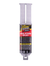 Power Maxed PM8265RS Cold Weld Formula Steel Reinforced Epoxy Adhesive Syringe T