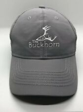 The Buckhorn Golf STAFF Cap Hat Adjustable Adult Polyester Gray