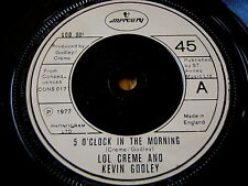"""GODLEY & CREME - 5 o 'clock in the morning 7"""" vinyle"""