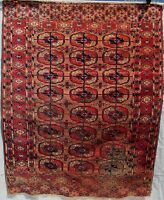 EXCELLENT ANTIQUE TEKKE BOHKARA ESTATE CARPET WITH SOFT MUTED COLORWAY