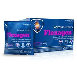 OLIMP Flexagen 30x12g COLLAGEN TYPE II & COLLAGEN HYDROLYSATE, HEALTHY JOINTS