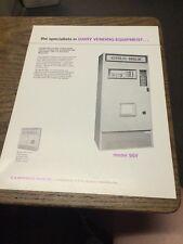 U. S. Automatic Sales MODEL 95V DAIRY VENDING EQUIPMENT flyer- original