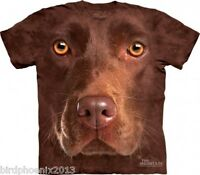 The Mountain Men's Graphic Tee Chocolate Lab Face T-shirt Adult Size