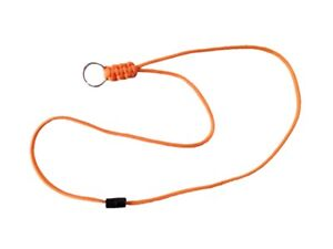 Paracord Orange Neck Lanyard With Safety Breakaway USA Handmade