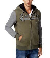 Sean John Sherpa Lined Logo Hoodie Sweatshirt Multi Color Mens Size 2XL New