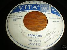 THE COLTS 45 DOO WOP 1955  RARE W PICTURE GROUP COVER