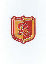 """Tampa Bay Buccaneers Shield Patch 3 1/2"""" h x 3"""" w Iron or Sew On Throwback Logo"""