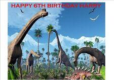 Rice Paper Dinosaurs Birthday Cake Topper