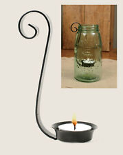 MASON QUART JAR TEA LIGHT candle HOLDER - BLACK IRON ap