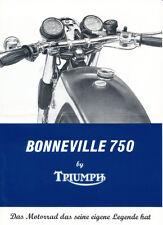Triumph - Bonneville 750 - Prospekt - 1972 - Deutsch - nl-Versandhandel