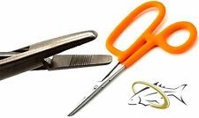 NEW William Joseph Blaze Orange Stainless Steel Hemostats NonSlip Grippy Handles
