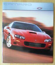 CHEVROLET Camaro 2000 range glossy prestige brochure - Z28