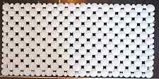 1 TAPIS DE BAIN ANTI DERAPANT PVC BLANC 36 X 75 CM
