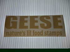 GEESE NATURES LIL FOOD STAMPS VINYL STICKER