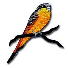 Budgerigar Budgie Parakeet Parrot Patch Embroidered Iron on Rockabilly Tattoo