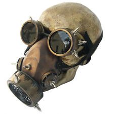 Retro Steampunk Gas Mask with Goggles Unisex Halloween Mask Cosplay Punk Mask