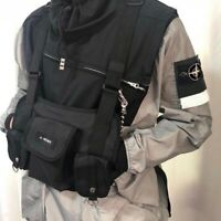 Men Women Tactical Harness Chest Rig Radio Bag Hip-Hop W/Two Pocket Fanny Pack