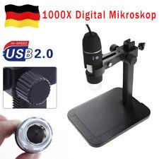 1000X Zoom 8 LED USB Digitalmikroskop Endoskop Digitale Lupe Kamera + Lift Stand