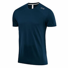 TCA Mens Bamboo Fibre Natural Wicking Fabric Sports and Fitness T-shirt Top Tee S Navy Eclipse