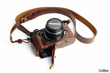 New Design Leather Camera Protect case bag Grip strap for Olympus PEN-F