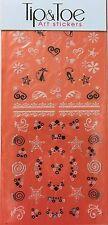 Kiss Halloween Tip & Toe Nail Art Stickers # 63372 Black Cats & Hearts LTD EDT