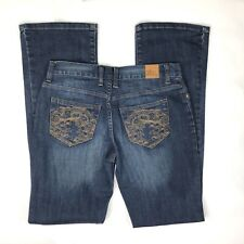 Disney Park Womens Jeans Blue Disneyland Embroidered Mickey Size 2