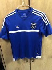 Blue Adidas San Jose Earthquakes MLS Soccer Jersey, Sz Youth XL, 14-16, USMNT