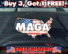 MAGA Make America Great Again Bumper Sticker, MAGA Decal, Patriotic States Map