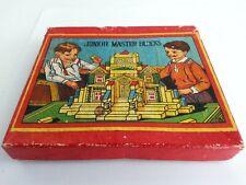 Antique Junior Master Blocks Architectural House Building Original Box  Japan