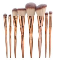 8pcs Metal Makeup Brushes Set Cosmetic Face Foundation Power VJfIH lptwT LrJNE