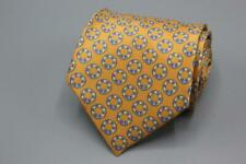 "Current STEFANO RICCI Long Tie. Orange w Blue & Yellow LIfe Buoy Motif. 62"" x 4"""