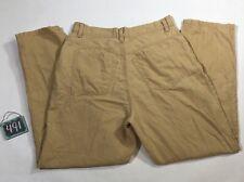 L.L.Bean Linen Cotton Mid Rise Tapered Pants Women's Size 10 Reg 30 x 29 Beach