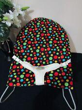 Babyhood bouncer liner-Black,dots-Funky babyz,Australian made