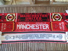 Lot 3 Echarpe MANCHESTER UNITED vintage scarf Pride of the North Red Devils 1993