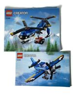 Lego Creator 31049 Twin Spin Helicopter Instruction Manuals 1&2 Only NO Bricks