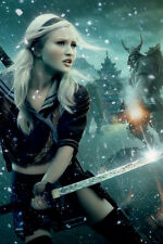 Emily Browning Sucker Punch 11x17 Mini Poster with sword