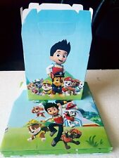 Paw Patrol Treat Favor Boxes *SET OF 10* Loot Goody Bags Boxes Party Supplies