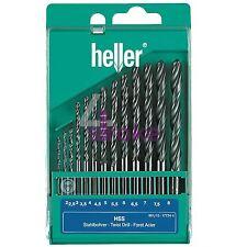 Heller 13 Pièce HSS-R Metal Drill Bit Set 2 mm - 8 mm Rolled Jobber Allemand outils