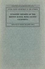 Benton, Mono County, Calif, Black Rock mine, Rare old 1st ed, Big separate maps